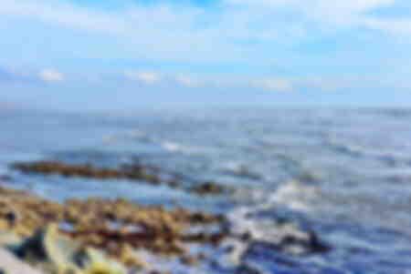 cielo y mar azul