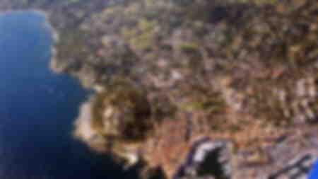 città di Saint-Tropez veduta aerea di tutta la regione