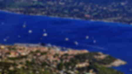 Aerial view number 2 of the city of Saint-Tropez