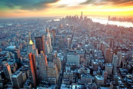 SUNSET ON NEW YORK