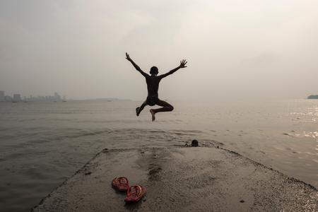 Le saut dans l'eau