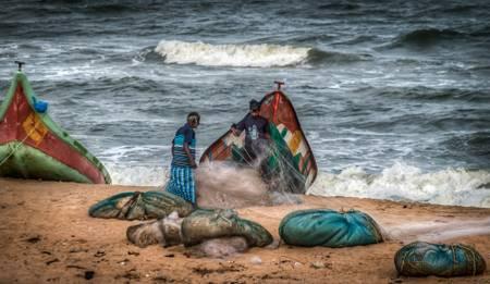 Les pêcheurs de Mahabalipuram