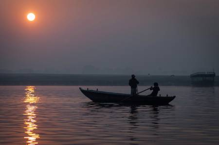 Sunrise over the Ganges