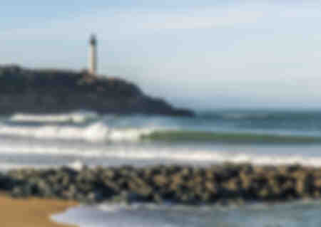 Anglet beach and Biarritz lighthouse