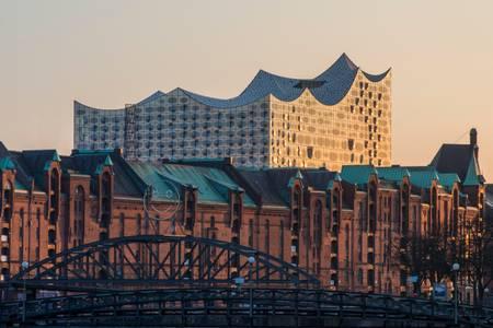 Sunset on the Elbe Philharmonie
