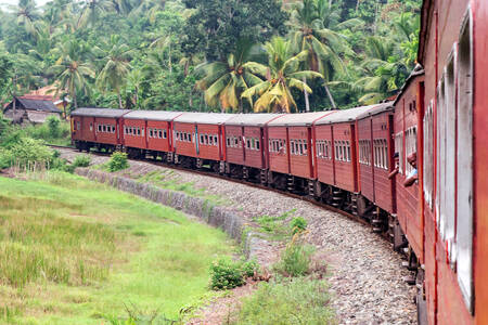 Vecchio treno in Sri Lanka
