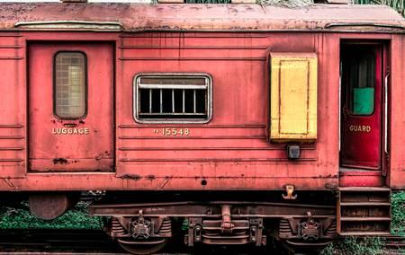 Wagon abandonné au Sri Lanka