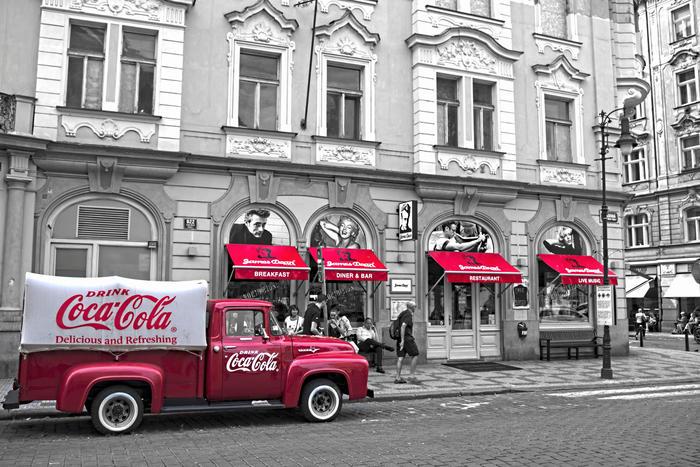 Red Vintage In Prague