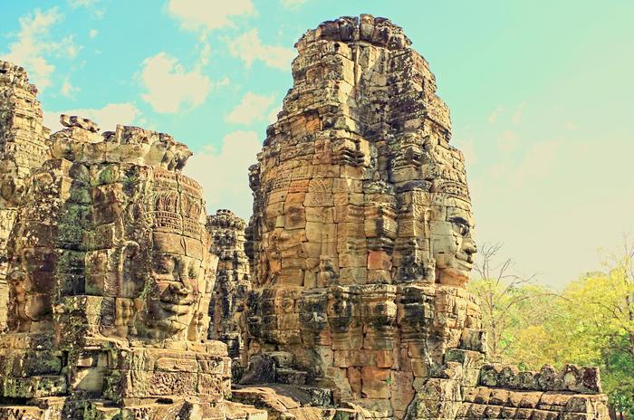 Visages Du Temple De Bayon