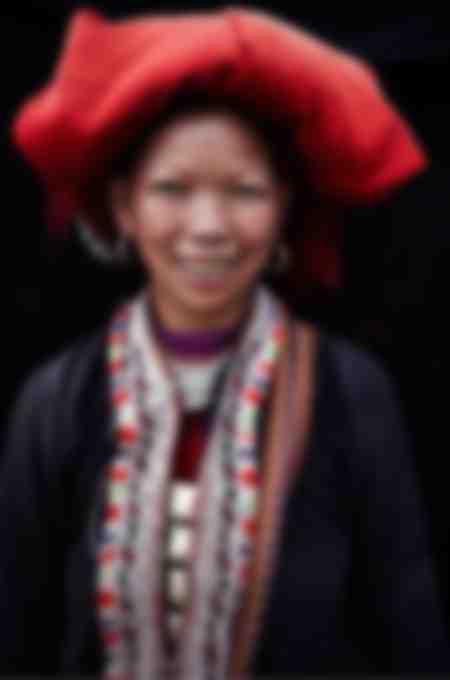 Femme Dzao rouge nord Vietnam