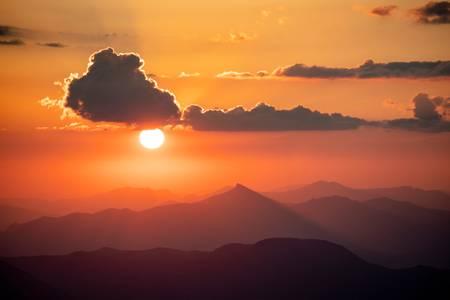 Coucher de Soleil à Dormillouse
