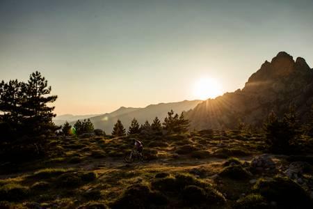 Mountain bike heights of Bavella Corsica