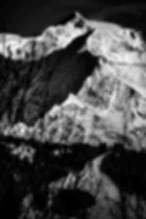 Mont-Blanc in black