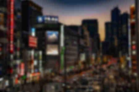 Sunset at Shinjuku Tokyo