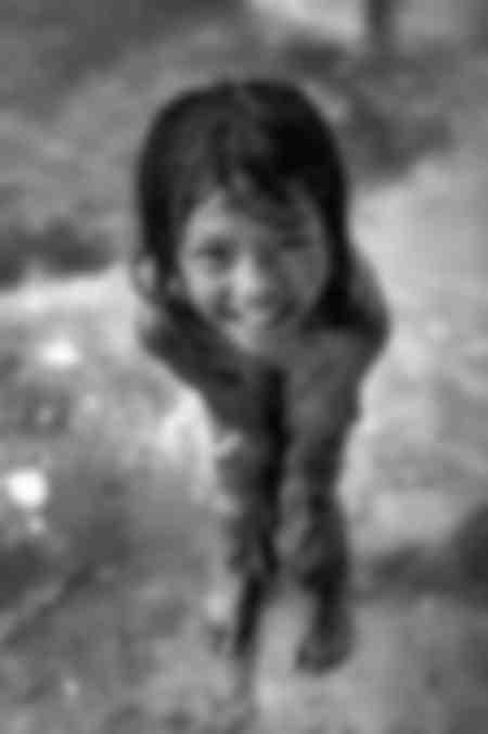 The little girl of the rain