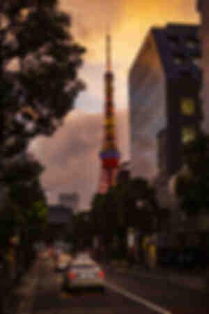 Tokyo Tower Sonnenuntergang