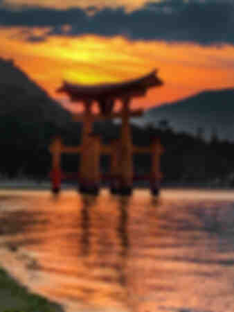 Torii of Itsukushima Shinto Shrine