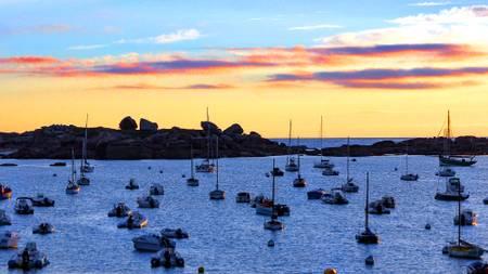 Tregastel Bay Sunset