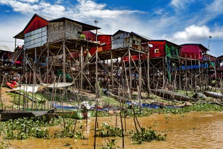Village flottant de Kampong Khleang Cambodge