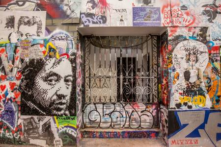 ENTRANCE TO THE HOUSE OF SERGE GAINSBOURG