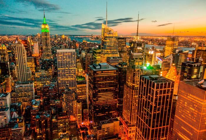 Manhattan A La Tombee De La Nuit