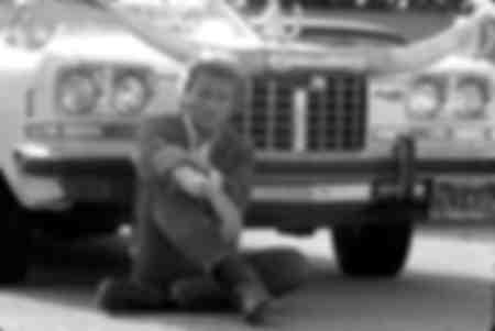 Johnny Hallyday pose en Californie