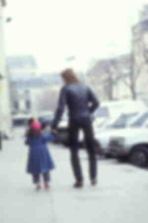 Renaud with his daughter 1983