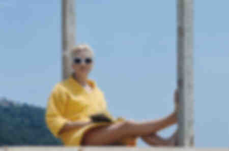 "Dreharbeiten zum Film ""La Chamade"" mit Catherine Deneuve"