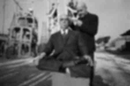 Tournage du film le Petit Baigneur de Robert Dhéry