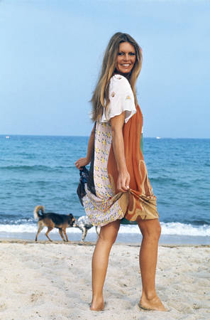 Brigitte Bardot à la plage pour ses 40 ans