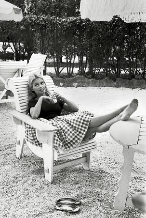 Brigitte Bardot à la tour Margot