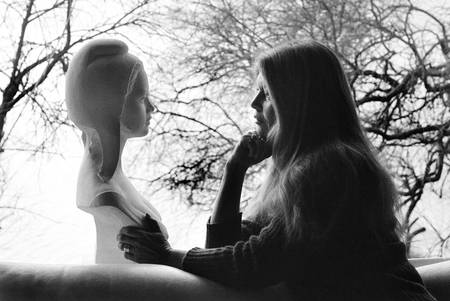 Brigitte Bardot and the bust of Marianne