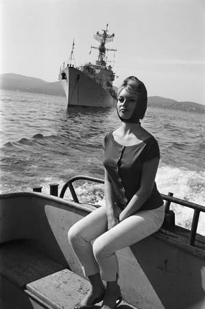 Brigitte Bardot Invitée par la Marine Nationale
