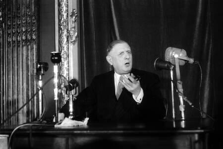 Conférence de presse du Général de Gaulle le 30 juin 1955