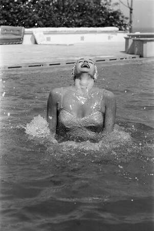 Esther Williams bei den Filmfestspielen von Cannes 1955