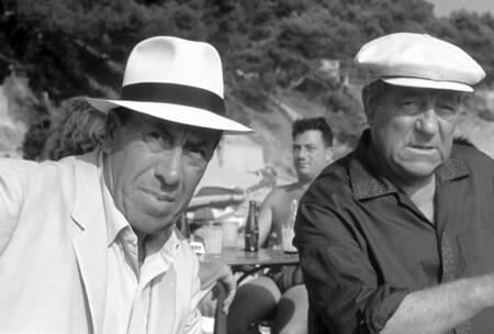 """Fernandel et Jean Gabin dans """"L'âge ingrat"""""""