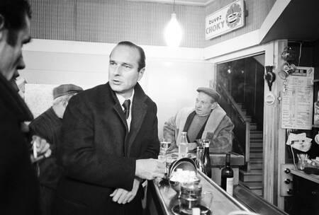 Jacques Chirac en campagne électorale en Corrèze