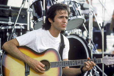 Jean-Jacques Goldman en tournée en 1986