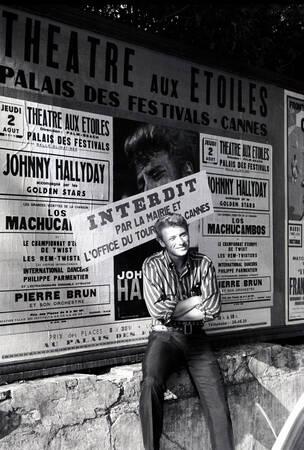 Johnny Hallyday sur la Côte d'Azur