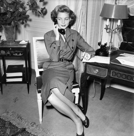 Lauren Bacall on the phone