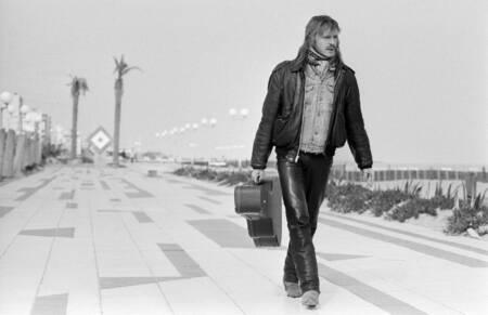 Le chanteur français Renaud 1984