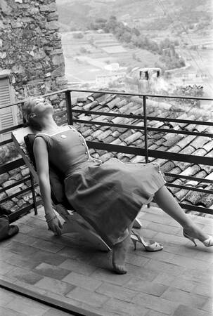 Le Festival de Cannes 1957 avec Romy Schneider