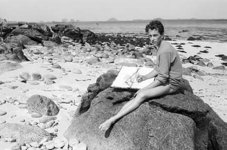 Der Maler Bernard Buffet im Jahr 1958