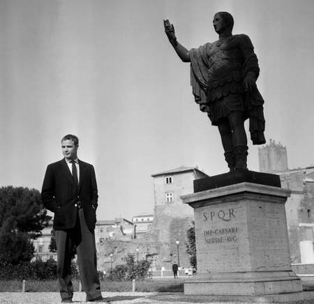 Marlon Brando in 1954 visiting Rome