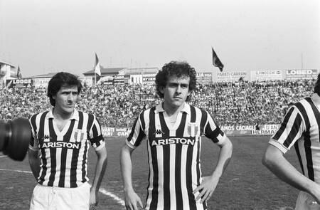 Michel Platini capitaine de la Juventus