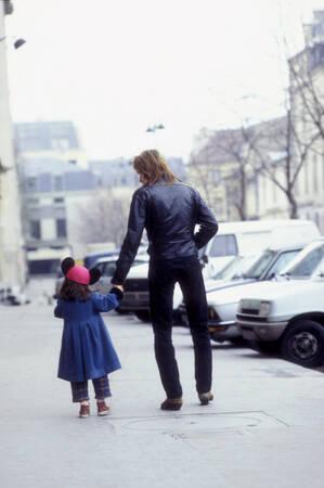 Renaud avec sa fille 1983