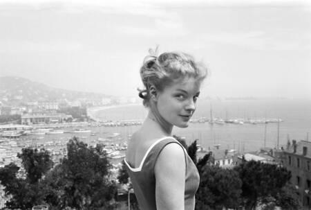 Romy Schneider Cannes 1957