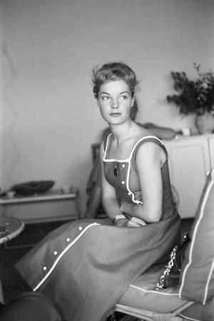 Romy Schneider en 1957 pour le Festival de Cannes