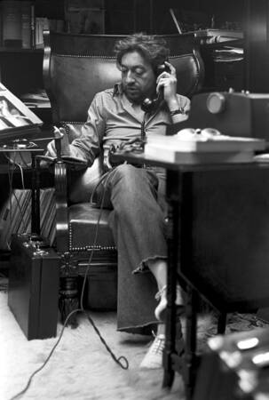 Serge Gainsbourg at home