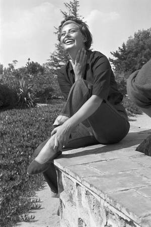 Sophia Loren in Saint Tropez in 1958